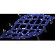 Plasa Emgo elastica 38cm x 38cm albastra